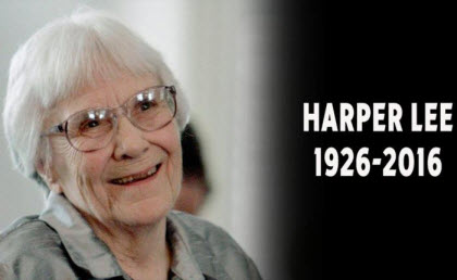 Harper Lee RIP (28 April 1926 – 19 Februari 2016)